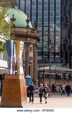 Legs walking Sculpture Leeds Square Leeds Yorkshire England - Stock Image