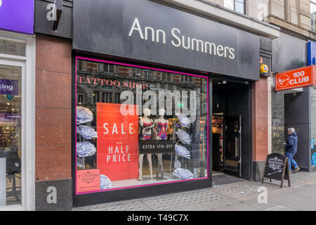 A branch of Ann Summers in Oxford Street. - Stock Image