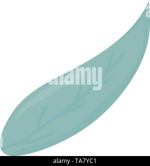 leaf plant nature icon vector illustration design - Stock Image