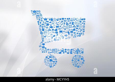 shopping carts illustration - Stock Image