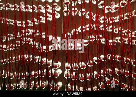 Hundreds of iPods hang on a wall ahead of the documenta 12, in Kassel, Germany, 12 June 2007. The iPods feature - Stock Image