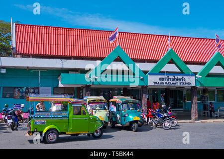 Railway station, Trang, Thailand - Stock Image