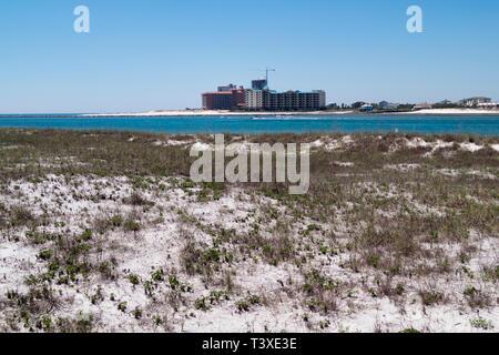 Gulf of Mexico beach at Perdido Pass in Orange Beach, Alabama, USA. - Stock Image