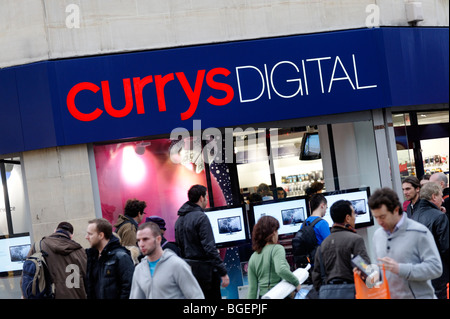 Currys Digital sign. Oxford Street. London. UK 2009 - Stock Image