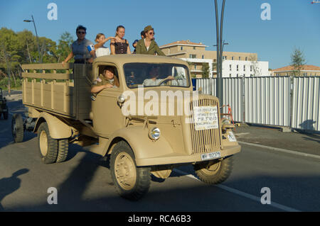 Opel Blitz 3.6-6700A 3-ton 4x4 ,captured during operation Dragoon by  7th US Army (3 rd) in 1944. - Stock Image