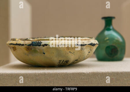 Mold Glass Plate. 330-247 BC, Seleucid Period. Susa, Khuzestan Province, Iran. Iran National Museum - Stock Image