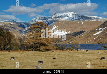 Wast Water Snows in Spring Image 2 - Stock Image