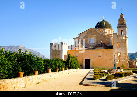 The Cistercian Monastery of Saint Mary of Valldigna in Simat Spain - Stock Image