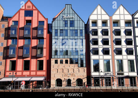 Redeveloped Granary Island in the heart of Gdansk - Stock Image