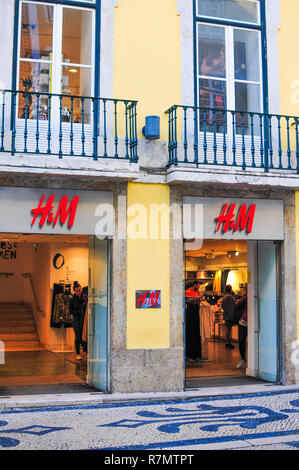 H & M store Lisbon Portugal - Stock Image