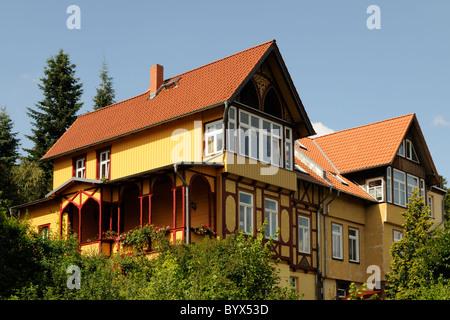 Wohngebäude in Wernigerode, Sachsen-Anhalt, Deutschland. - Residential building in Wernigerode, Saxony-Anhalt, - Stock Image