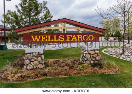 Wells Fargo in Sheridan, Montana, USA - Stock Image