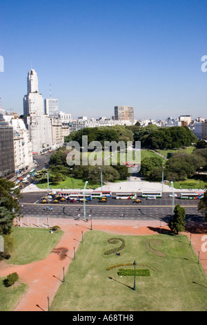 View from the English Tower (Torre de los Ingleses) in Buenos Aires - Stock Image