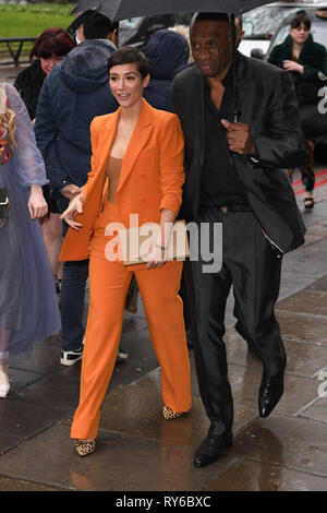 LONDON, UK. March 12, 2019: Frankie Bridge arriving for the TRIC Awards 2019 at the Grosvenor House Hotel, London. Picture: Steve Vas/Featureflash Credit: Paul Smith/Alamy Live News - Stock Image