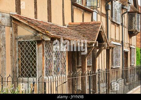 Stratford upon Avon and William Shakespeare's birthplace. - Stock Image