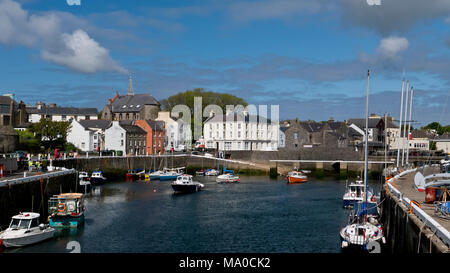 RS 8013  The Harbour, Castletown, Isle of Man, UK - Stock Image