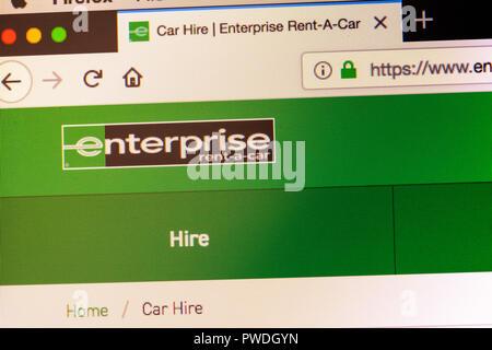 Enterprise car hire website, Enterprise car hire, Enterprise, online car hire, Enterprise website, Enterprise logo, Enterprise homepage, Enterprise - Stock Image