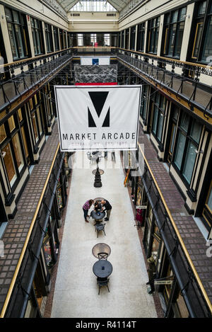 USA, Western New York, Buffalo, historic Market Arcade - Stock Image