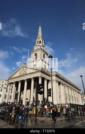 St. Martin in the Fields Church, Charring Cross Road, London, England, UK - Stock Image