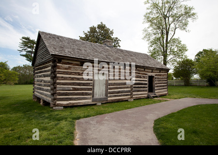 Exterior of a Slave shack at the Hermitage owned by President Andrew Jackson in Nashville Tennessee USA - Stock Image