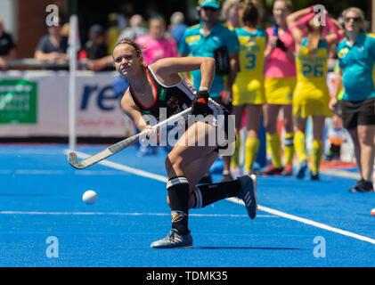 Krefeld, Germany, June 16 2019, hockey, women, FIH Pro League, Germany vs. Australia:  Kira Horn (Germany) hits the ball. - Stock Image