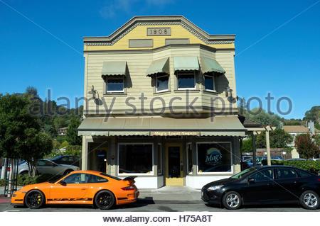 Historic building in Magnolia Avenue, in Larkspur, Marin County, California, USA. - Stock Image