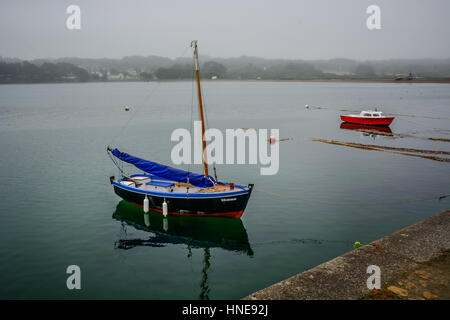 L e Fret, small in Brittany with ferry boat to Brest, Finistere, France - Stock Image