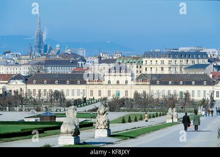 The Belvedere Vienna Lower Austria - Stock Image