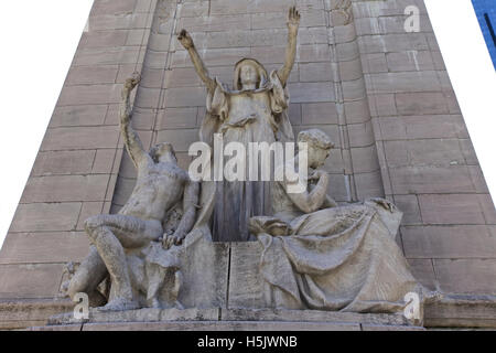 Spain monument statue at Columbus circle at the corner of Central Park, Manhattan, York City, USA Photo: April 15th, - Stock Image