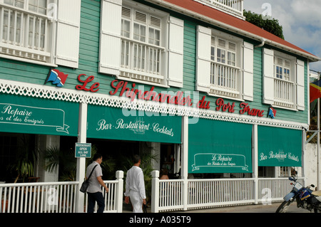 St Barths St Barts downtown architecture building store shopping - Stock Image