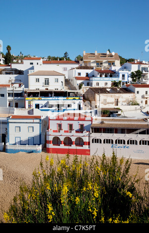 Portugal, Algarve, Carvoeiro, Town & Beach - Stock Image