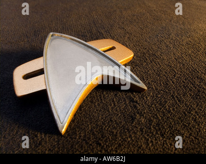 Star Trek communicator badge - Stock Image