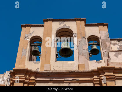 Belfry of Santa Maria de Gracia church, in Cartagena, Murcia, Spain. It was built between 1713 and 1779. - Stock Image