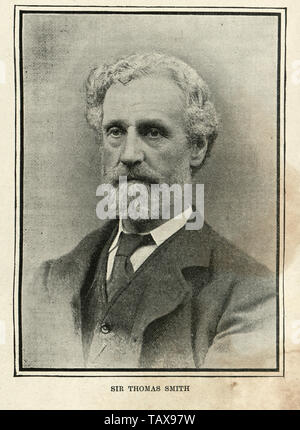 Vintage photograph of Sir Thomas Smith, 1st Baronet, of Stratford Place an eminent British surgeon. He became Surgeon Extraordinary to Queen Victoria in 1895 in succession to Sir William Savory. - Stock Image