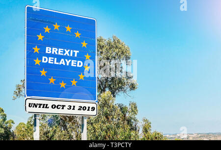 UK is set to extend leaving the EU via Article 50 until October 31st, 2019 - BREXIT. - Stock Image