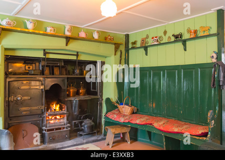 Farmhouse Fire and Range Beamish Living Open Air Museum - Stock Image