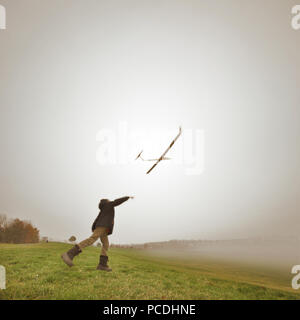 leisure,model airplane,freedom - Stock Image