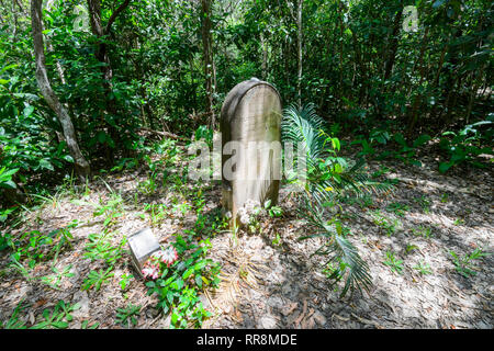Historic grave of Elizabeth Cooper who drowned in 1874 at Cooktown Cemetery, Far North Queensland, QLD, FNQ, Australia - Stock Image