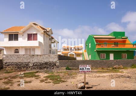 Building plot for sale, Baia das Gatas, Sao Vicente, Cape Verde Islands - Stock Image