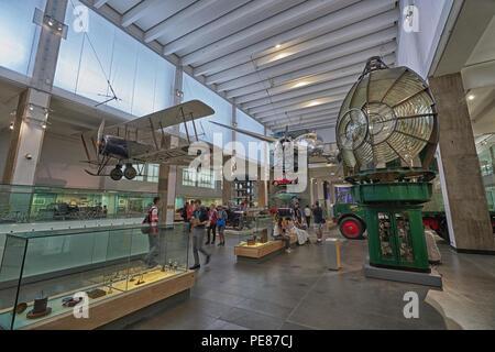 science museum london   transport display - Stock Image
