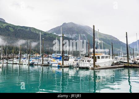 View Of The Seward Small Boat Harbor, Southcentral Alaska, USA - Stock Image