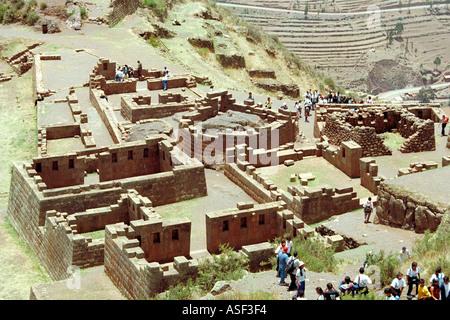 Archeological Park, Pisac, Cusco, Peru - Stock Image