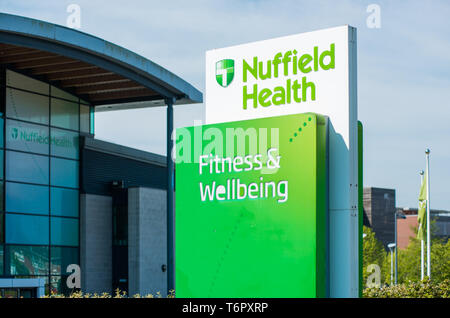 Nuffield Health Fitness & Wellbeing centre near the Riverside Walk in Norwich, Norfolk, England, United Kingdom. - Stock Image