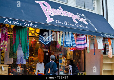 Penelope's On the Drive, a store on Commercial Drive in Vancouver, BC, Canada. - Stock Image