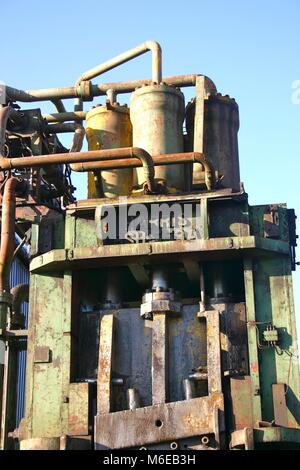 Very old industrial plant for recycling metal - Stock Image