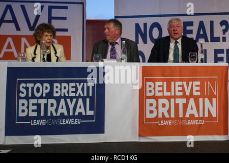 'Leave Means Leave' rally held at Queen Elizabeth II Conference Centre  Featuring: Kate Hoey MP, Sammy Wilson MP, Graham Stringer MP Where: London, United Kingdom When: 14 Dec 2018 Credit: Wheatley/WENN - Stock Image