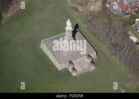 An aerial view of the Collingwood Monument, Tynemouth - Stock Image