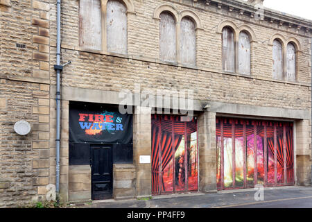 Former Fire Station building, Sowerby Bridge, West Yorkshire - Stock Image