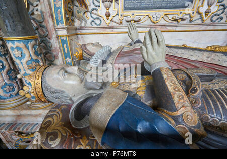 tomb of robert dudley warwick - Stock Image