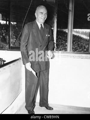 Capt. Eddie Rickenbacker, Hialeah Racetrack, 1949 - Stock Image